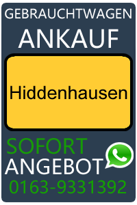 Gebrauchtwagen Ankauf Hiddenhausen