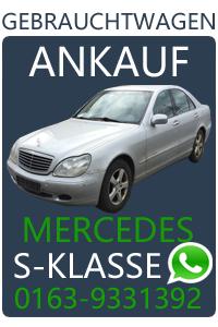 Mercedes S-Klasse Gebrauchtwagen Ankauf
