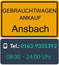 Gebrauchtwagen Ankauf in Ansbach