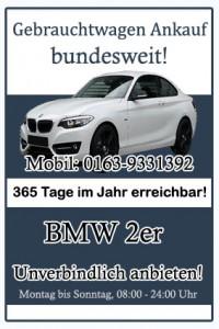 BMW 2er Gebrauchtwagen Ankauf