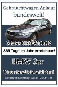 BMW 3er Gebrauchtwagen Ankauf