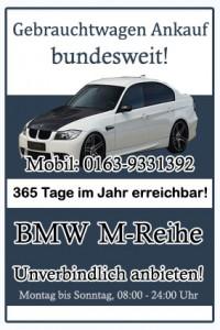BMW M-Reihe Gebrauchtwagen Ankauf