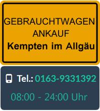 Gebrauchtwagen Ankauf in Kempten im Allgäu