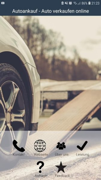 Google Play Store App: Autoankauf - Auto verkaufen